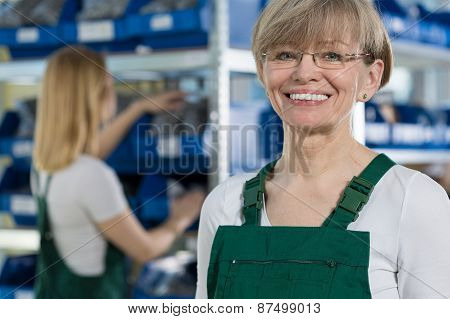 Female Warehouse Worker