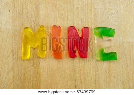 Gummy Words Mine