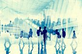 stock photo of commutator  - Business People Commuter City Life Busy Concept - JPG