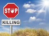 image of kill  - stop killing no guns ban weapons end the war and violence - JPG