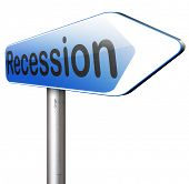 stock photo of stock market crash  - global economic recession crisis bank and stock crash economy and financial bank recession market crash road sign   - JPG
