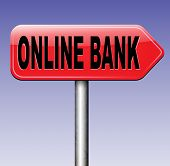 pic of internet-banking  - online internet banking money deposit bank account road sign  - JPG