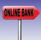 pic of internet-banking  - online internet banking money deposit bank account road sign  - JPG