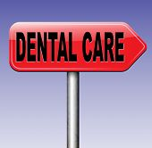 stock photo of health center  - dental health care center oral hygiene or surgery for healthy teeth without caries but with a beautiful smile road sign with text  - JPG