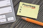 picture of priorities  - set priorities message note - JPG