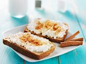 picture of cinnamon  - cinnamon and sugar toast with cottage cheese - JPG