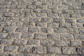pic of cinder block  - Block concrete road in city background closeup - JPG