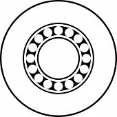 pic of ball bearing  - ball bearing symbol - JPG