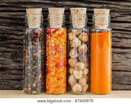Food Cooking Ingredients. - Spice Taste With Copy Space.