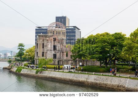 Hiroshima, Japan - May 15, 2015: Hiroshima Peace Memorial