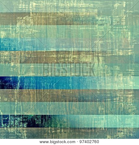 Weathered and distressed grunge background with different color patterns: brown; green; blue; cyan