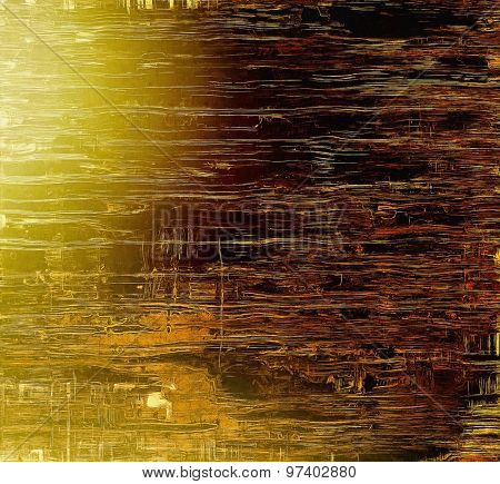 Art vintage background with space for text and different color patterns: yellow (beige); brown; gray