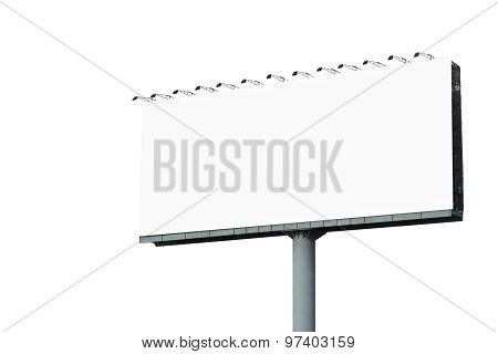 Blank Billboard For Advertisement Isolated On White