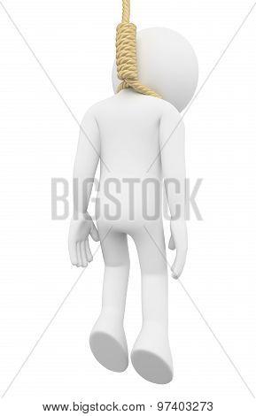 3D White People. Hanged Man