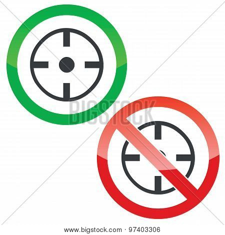 Target permission signs set