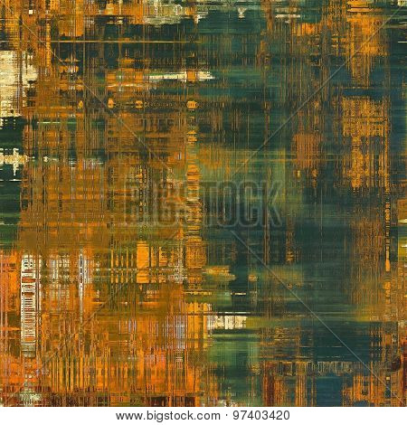 Antique grunge background with space for text or image. With different color patterns: yellow (beige); brown; green; gray