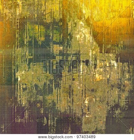 Abstract grunge background of old texture. With different color patterns: yellow (beige); brown; green; gray