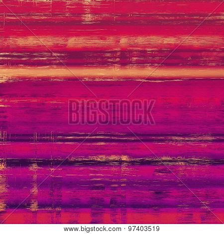 Old texture with delicate abstract pattern as grunge background. With different color patterns: yellow (beige); purple (violet); red (orange); pink
