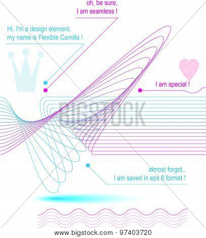 Sophisticated 3d dynamic decoration, clear eps8 vector illustration, aerial seamless backround