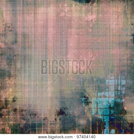Background with grunge stains. With different color patterns: brown; green; blue; pink