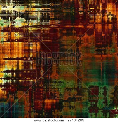Old texture with delicate abstract pattern as grunge background. With different color patterns: yellow (beige); brown; purple (violet); green