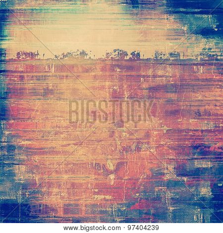 Retro background with grunge texture. With different color patterns: yellow (beige); purple (violet); blue; pink