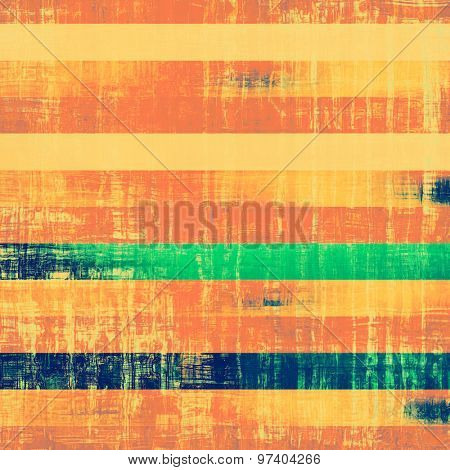 Grunge old-school texture, background for design. With different color patterns: yellow (beige); green; blue; red (orange)