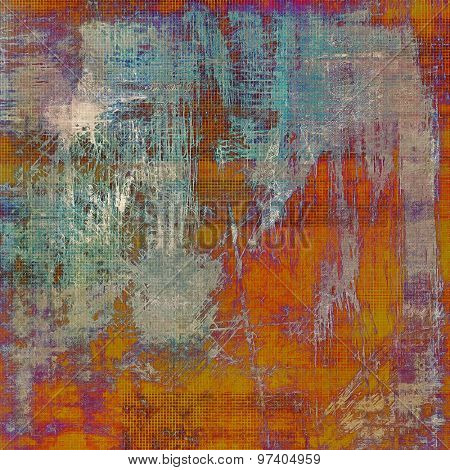 Background with grunge stains. With different color patterns: brown; purple (violet); blue; red (orange)