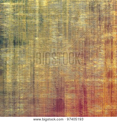Aging grunge texture designed as abstract old background. With different color patterns: yellow (beige); brown; purple (violet); green