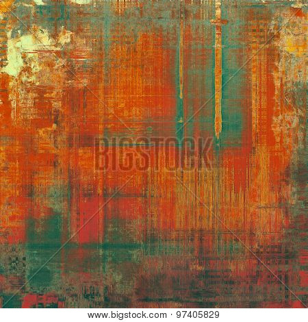 Grunge old-school texture, background for design. With different color patterns: yellow (beige); brown; green; red (orange)