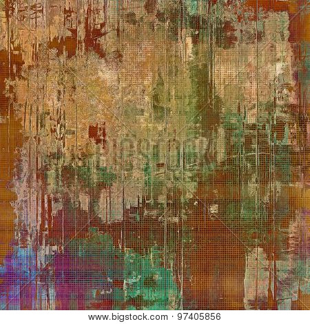 Grunge retro vintage textured background. With different color patterns: yellow (beige); brown; purple (violet); green