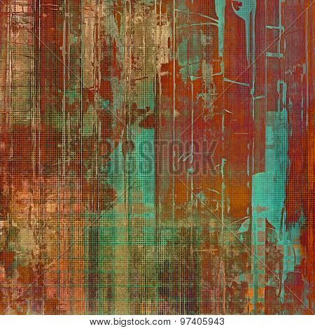 Vintage texture for background. With different color patterns: brown; green; blue; red (orange)