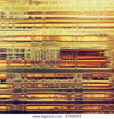 Rough vintage texture. With different color patterns: yellow (beige); brown; purple (violet); red (orange)