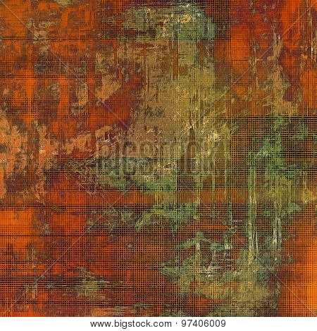 Old abstract grunge background, aged retro texture. With different color patterns: yellow (beige); brown; green; red (orange)