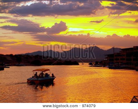 Sunset At Lake Havasu