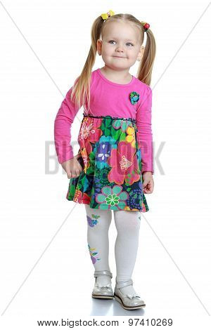 Fashionable little girl