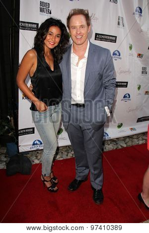 LOS ANGELES - JUL 29:  Emmanuelle Chriqui, Raphael Sbarge at the