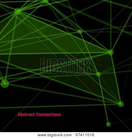 Abstract background with dotted grid