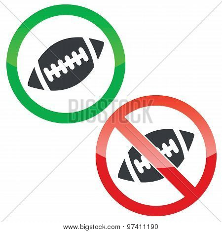 Rugby permission signs set