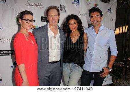 LOS ANGELES - JUL 29:  Kathleen Robertson, Raphael Sbarge, Emmanuelle Chriqui, Ian Anthony Dale at the