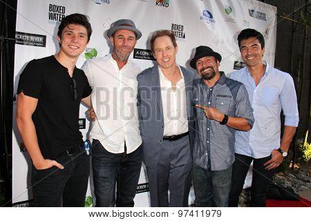 LOS ANGELES - JUL 29:  Mateus Ward, Jamie McShane, Raphael Sbarge, Lombardo Boyar, Ian Anthony Dale at the