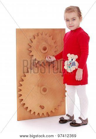 Girl Montessori kindergarten