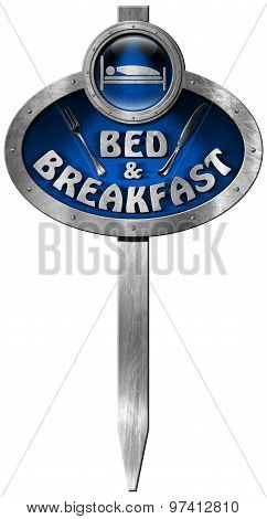 Bed And Breakfast - Metal Sign