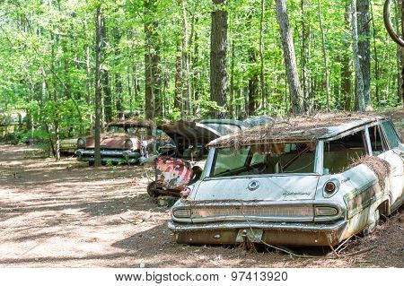 Old Ford Mercury Station Wagon