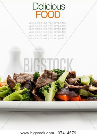 Stir Fried Broccoli With Oyster Sauce.