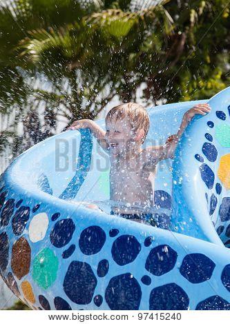 Boy In Waterpark