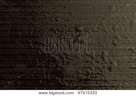 Water Drops On Dark Background