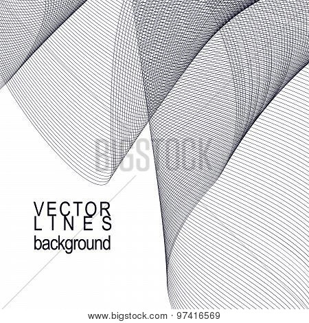 Lattice decorative wavy template, vector background with light silky textile curves, motif 3d