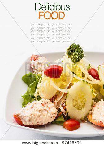 Gourmet Salad And Mixed Green.