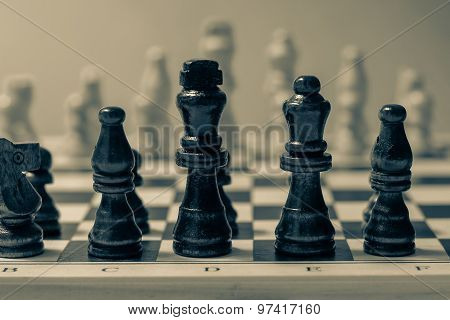 Chess Set, Business Strategy And Game Concept.